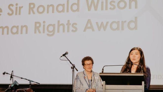 Veronica Koman Menerima Penghargaan