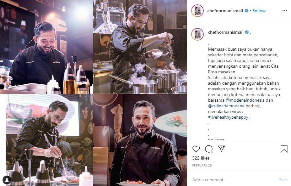 Chef Norman Ismail Bagi Tips agar Tidak Setres di Tengah Pandemi Corona, Sambil Menunggu Buka Puasa! 1