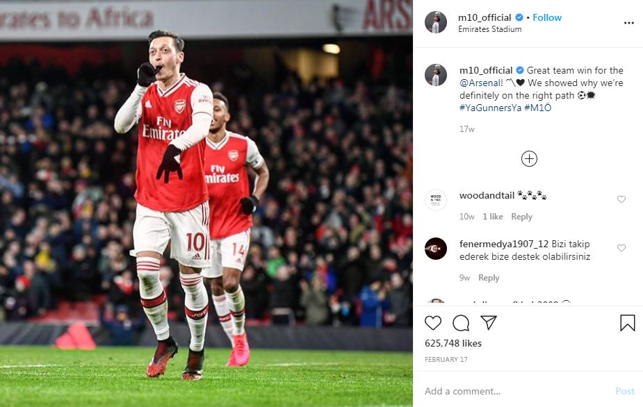 Mesut Ozil Tidak Ingin Pindah ke Klub Lain