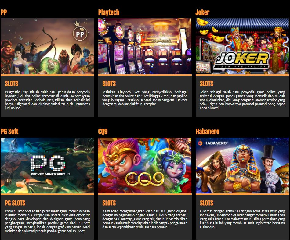 Agen Resmi Game Slot Online Terpercaya SBOHOKI