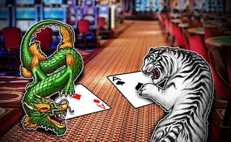 ilustrasi harimau dan naga